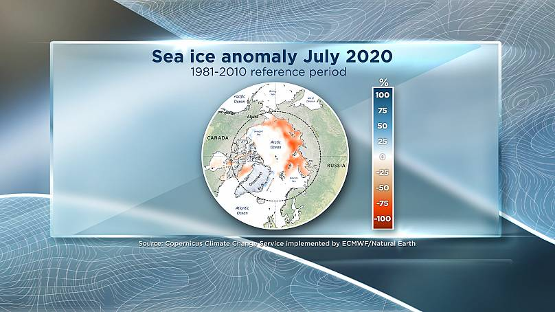 Euronews / Coperniucs Climate Change Service implemented by ECMWF
