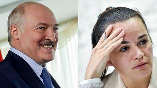 Belarus Devlet Başkanı Aleksander Lukaşenko // Muhalif lider Svetlana Tikhanovskaya