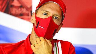 Sebastian Vettel in Silverstone