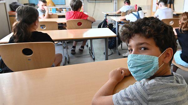 Schulbeginn an der  Carl-Orff-Grundschule in Berlin