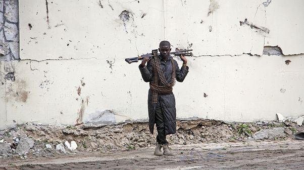 Un soldato somalo a Mogadiscio
