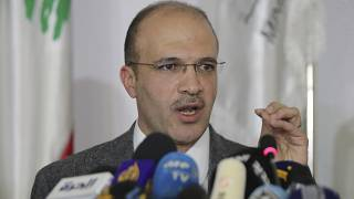 File photo: Lebanese Health Minister Hamad Hassan speaks during a news conference, in Beirut, Lebanon, Friday, Feb. 21, 2020.