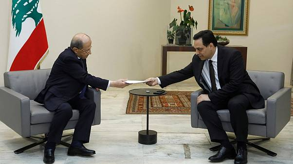President Michel Aoun and Prime Minister Hassan Diab
