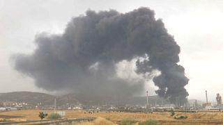 Brand in spanischer Ölfirma