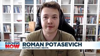 Roman Potasetich being interviewed on Euronews
