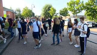 Alumnos vuelven al cole en Alemania
