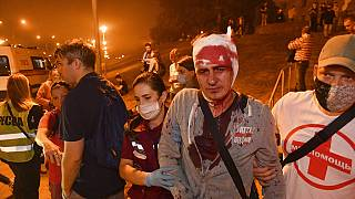 Verletzter in Minsk