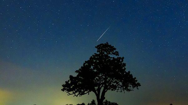 Perceid meteor yağmurundan bir kare.