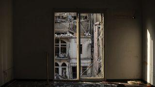 Разрушенный дом одного из кварталов Бейрута после взрыва 4 августа