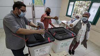 أحد مراكز الاقتراع في انتخابات مجلس الشيوخ، مصر، 11 أغسطس 2020