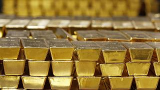 Gold bars are stacked in a vault at the United States Mint, in West Point, N.Y