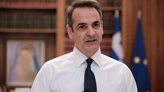 رئيس الوزراء اليوناني كيرياكوس ميتسوتاكيس، 22 مارس 2020