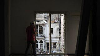 Illusztráció: a robbanásokban megrongálódott épület