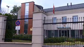 A budapesti belarusz nagykövetség 2020. augusztus 11-én