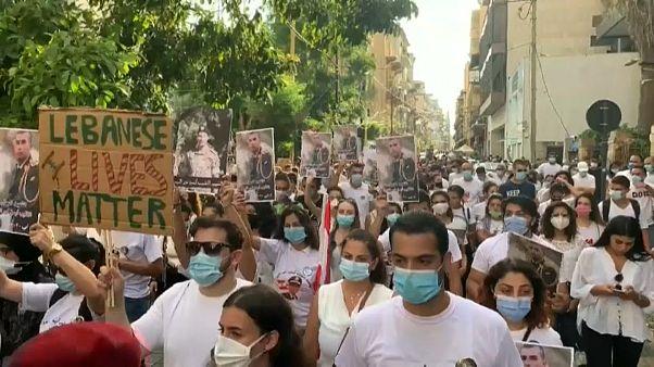 Un protesta contra el sistema político en el Líbano