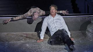 Jedermann 2020: Peter Lohmeyer (Tod), Tobias Moretti (Jedermann)