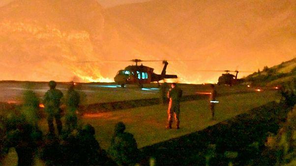 Turkish troops in action against Kurdish militants in northern Iraq