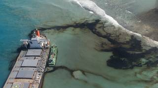 Salvage crews in a race to pump fuel from agrounded ship in Mauritius