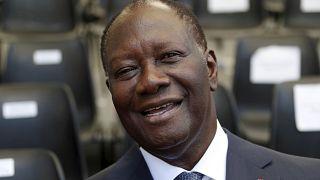 Alassane Ouattara aux cérémonies du 75ème anniversaire du Débarquement de Provence, à Saint-Raphael, le 15 août 2019