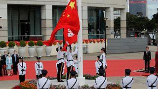 مراسم پرچم در اول ژوئیه سال 2020 به مناسبت سالگرد تحویل هنگ کنگ به چین
