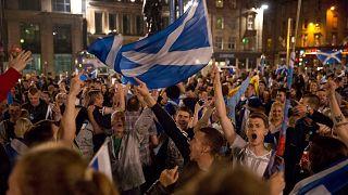 İskoçya'da bağımsızlık yanlılarının eylemi 2014 / Arşiv