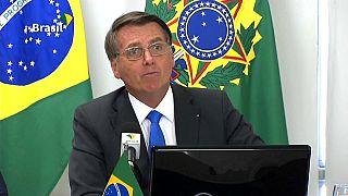 Jair Bolsonaro durante la II Cumbre Presidencial por la Amazonía