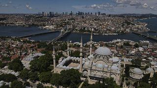 منظر جوي لمسجد السليمانية التاريخي
