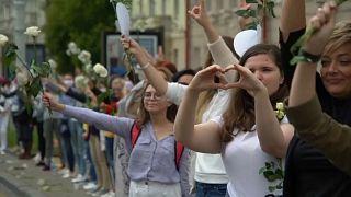 Живая цепь в Минске - кадр из видео