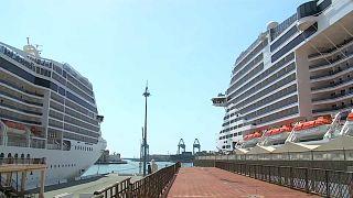 Круизные лайнеры MCS в порту