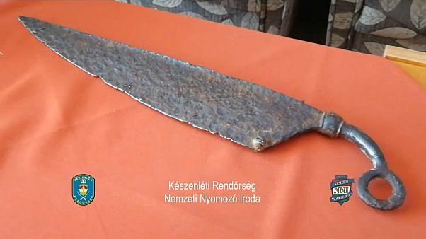 Beschlagnahmtes Messer