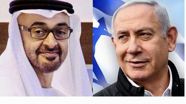 Mohammed Al Nahyan, Egyesült Arab Emírségek és Benjamin Netanjahu, Izrael vezetője