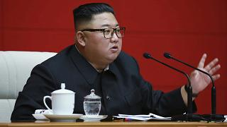 Kim highlighted two challenges against the country - to fight COVID-19 and to repair storm damage