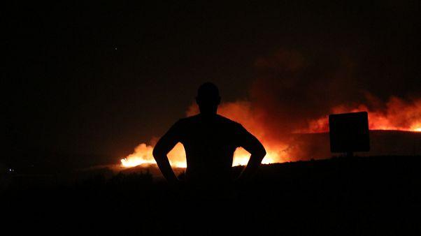 Çeşme'de yangın