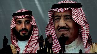 صورة لولي العهد السعودي محمد بن سلمان والملك سلمان