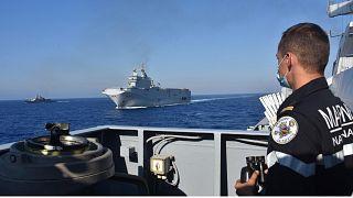 تنش در شرق مدیترانه؛ از واکنشها به رزمآیش فرانسه تا برخورد دو کشتی ترک و یونانی