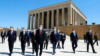 President Erdogan visit the mausoleum of Ataturk