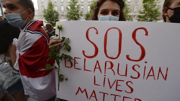 Tüntetés a fehéroroszországi választások után, Varsó
