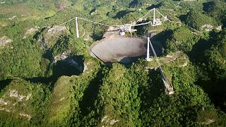 the Arecibo Observatory, in Puerto Rico
