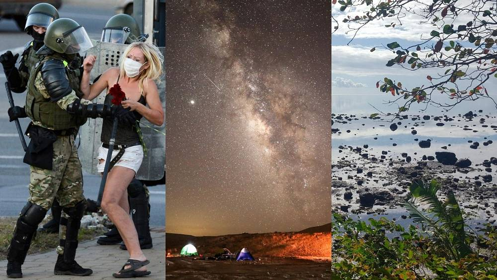This week in pictures: protests in Belarus, Perseid shower peak, Mauritius oil spill - Euronews