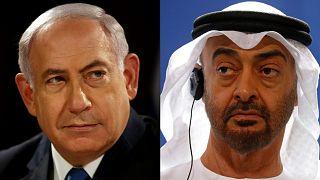 İsrail Başbakanı Netanyahu ve Abu Dabi Veliaht Prensi Muhammed bin Zayid