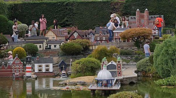 Visitors in Bekonscot Model Village