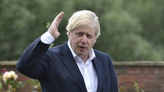 FILE: British Prime Minister Boris Johnson has paid tribute to surviving veterans of the multinational campaign against Japan in World War II