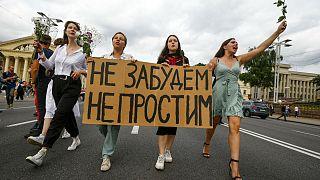 Belarus'ta 9 Ağustos'ta yapılan seçimlerin ardından patlak veren Lukaşenko karşıtı gösteriler devam ediyor