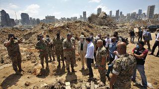 Il sottosegretario USA agli Affari Politici, David Hale, in visita a Beirut. 15.8.2020
