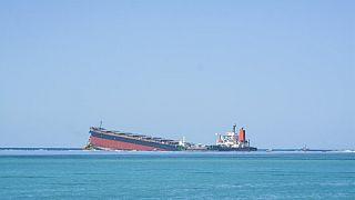 Der Frachter vor dem Auseinanderbrechen am 11. August 2020