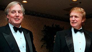 Robert Trump with his brother Donald in 1999