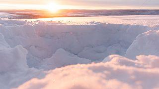 İsveç'in kuzey kutup bölgesi