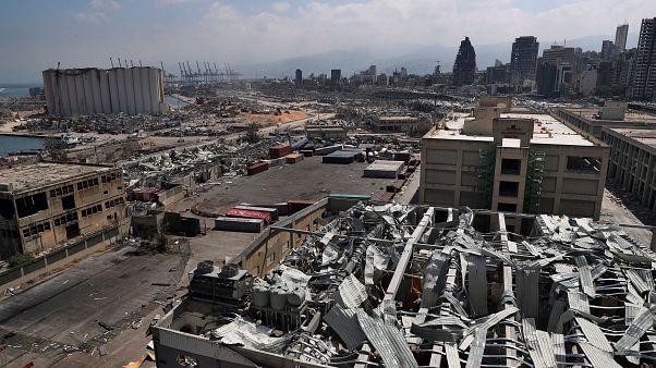 Devastation left by the explosion in Beirut