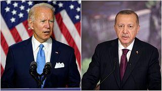 الرئيس التركي رجب طيب إردوغان والمرشح الديمقراطي للانتخابات الأمريكية جو بايدن