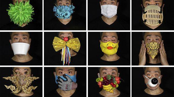 Kreatív és fantasztikus arcmaszkokat készít egy hongkongi művész